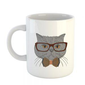 Hipster Kediler Baskılı Kupa